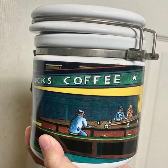 Starbucks Coffee canister jar large euc